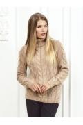 Женский свитер бежевого цвета Andovers Z299
