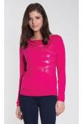 Розовая блузка с вырезом-лодочка Zaps Ksymena