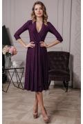 Темно-пурпурное трикотажное платье Donna Saggia DSP-239-86t