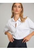 Белая блузка-рубашка Emka B2540/amina