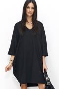 Чёрное платье oversize Niminou NU77