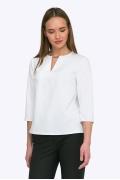 Белоснежная блуза лаконичного дизайна Emka B2270/glossy