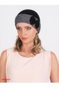 Чёрная женская шапка с бантиком Kamea Scarlet