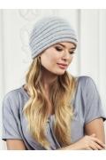 Женская серого цвета шапка Landre Агата