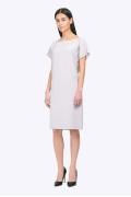 Летнее платье серого цвета Emka PL631/sable