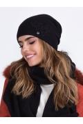 Чёрная женская шапка Kamea Lilly