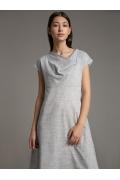 Серое платье А-силуэта Emka PL1035/walk