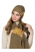 Женский шарф горчичного цвета Kamea Felicia