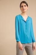 Блузка лазурного цвета прямого кроя Emka B2451/lush