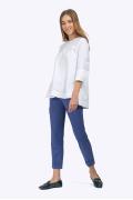 Белая блуза с асимметричным низом Emka B2210/amina