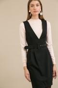 Короткое платье-сарафан черного цвета Emka PL886/binazir