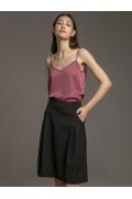 Чёрная юбка-трапеция со складками Emka S896/premiera