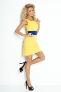 Жёлто-синее платье Numoco 102-1