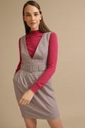 Короткое платье-сарафан в гусиную лапку Emka PL886/shani