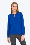 Блузка синего цвета Emka B2263/taina