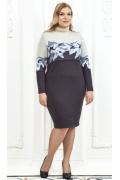 Трикотажное платье Andovers Z494 (коллекция осень-зима 16/17)