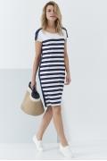 Трикотажное платье в полоску Sunwear QS215-2-30