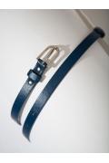 Тонкий ремень синего цвета Emka F009/orland