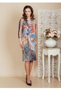 Узорчатое платье TopDesign Premium PB6 11