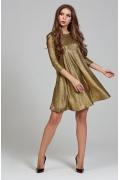 Нарядное платье из золотого трикотажа Donna Saggia DSP-310-57t