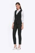 Чёрные укороченные брюки-дудочки Emka D108/tartina