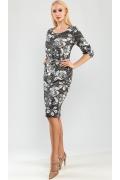 Трикотажное платье с ремешком TopDesign A9 038