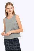Блузка из эластичной поливискозы без рукавов Emka B2251/newcasle