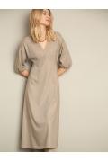 Бежевое платье А-силуэта Emka PL1142/cane