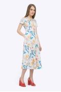 Платье-миди с короткими рукавами Emka PL830/ingenue