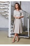 Летняя хлопковая юбка TopDesign A8 017