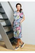 Летнее платье из вискозного трикотажа TopDesign A7 063