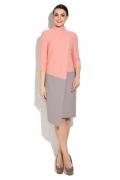 Двухцветное платье оригинального кроя Donna Saggia DSP-263-66t