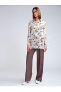 Шифоновая блузка с цветочным орнаментом Emka B2465/corona