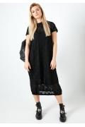 Чёрное двухслойное платье TopDesign A20 101