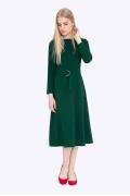 Платье-миди приталенного силуэта зелёного-цвета Emka PL-675/hunter