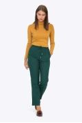 Зелёные брюки на резинке Emka D063/cheril
