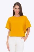 Укороченная блузка горчичного цвета Emka b 2202/citrus