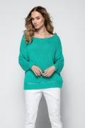 Зелёный свитер крупной вязки Fimfi I242