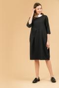 Тёмно-серое платье свободного силуэта Emka PL845/miomond