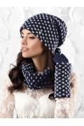 Женская фактурная шапка Kamea Grosseto