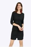 Чёрное платье Emka PL849/almaza