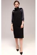 Черное элегантное платье TopDesign B7 061