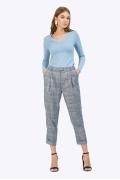 Женские укороченные брюки в клетку Emka D042/becka