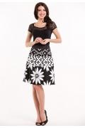 Чёрно-белая летняя юбка Remix 2694