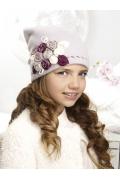 Зимняя шапка для девочек с цветочками Willi Serafina