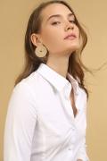 Белая офисная блузка Emka B2425/amina