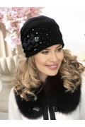 Женская шапка-бандана украшенная стразами Willi Arana