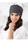 Хлопковая шапка графитового цвета Kamea Latina