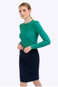 Классическая юбка темно-синего цвета Emka S675/aziza