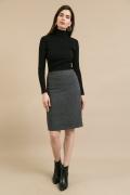 Серая юбка-карандаш Emka S663/elizavr